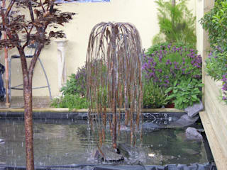 Copper Weeping Willow Tree Water Sculpture:  Garden by Water Garden Ltd