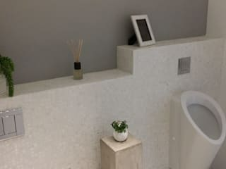 Pure white Freshwater Mother of Pearl mosaics used by our partner, Inca Design:  Bathroom by ShellShock Designs