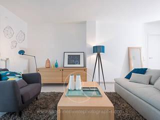Résidence Carré Olonna - Bouygues Immobilier: Salon de style de style Scandinave par Sandrine RIVIERE Photographie