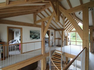 Cedarwood, Surrey Country style corridor, hallway& stairs by Hale Brown Architects Ltd Country