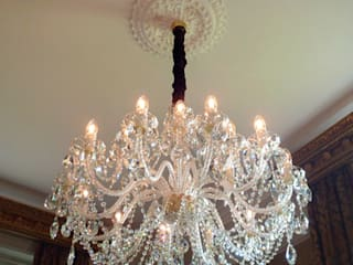 Bohemian crystal chandelier:   by The Victorian Emporium