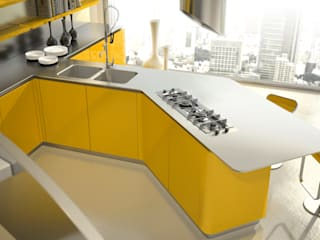 Eclectic style kitchen by Vegni Design Eclectic