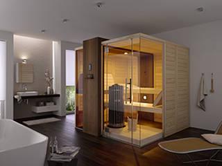 Design-Star für jedes Spa – Premium-Blockbohlensauna helo EDGE: modernes Spa von helo GmbH