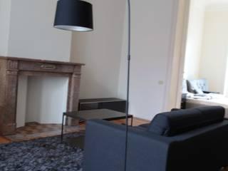 Appartement Bruxelles: Salon de style  par pure joy interior design