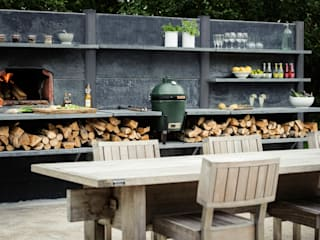 WWOO Concrete Outdoor Kitchen:  Tuin door NewLook Brasschaat Keukens
