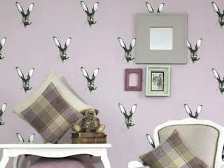 Jackrabbit Wallpaper:  Walls & flooring by Dwelling Bird