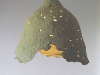 """Calice de fleurs"" lampe pendante de pâte à papier par Crea-re Studio Rustique"
