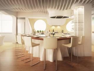Reforma de Vivienda Unifamiliar en Castelldefels Cocinas de estilo moderno de EXA4 AEC Soft & Services Moderno