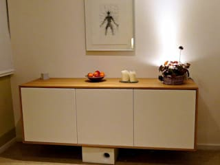 floating sideboard woodstylelondon SalonesAlacenas y aparadores