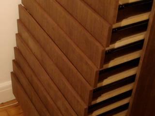 walnut wardrobe woodstylelondon BedroomWardrobes & closets