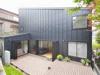 我孫子の家 モダンデザインの テラス の 白砂孝洋建築設計事務所 モダン