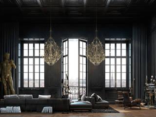 Paris apartment: Гостиная в . Автор – Виталий Юров