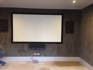 Bespoke fabric paneled walls Designer Vision and Sound: Bespoke Cabinet Making Living roomAccessories & decoration