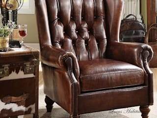 Classic Leather Armchair for Men Locus Habitat Living roomSofas & armchairs
