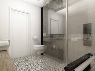 Proejkt łazienki http://ilonasobiech.pl: styl , w kategorii Łazienka zaprojektowany przez Architekt wnętrz Ilona Sobiech