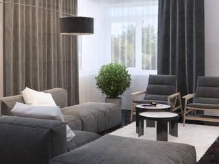 Minimalistische Wohnzimmer von Tatiana Shishkina Minimalistisch