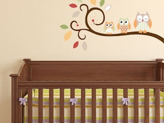Woodland Animal Luxury Nursery Wall Art Sticker Designs for a baby boys or baby girls nursery room par Enchanted Interiors Moderne