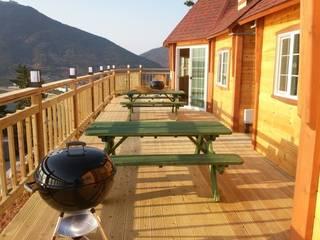 여수 펜션 스칸디나비아 발코니, 베란다 & 테라스 by kdg5433 북유럽