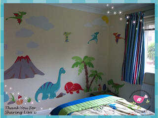 Deluxe Dinosaur Luxury Nursery Wall Art Sticker Design for a baby boys nursery room par Enchanted Interiors Moderne