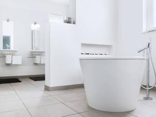 Badkamer woonhuis Ravels Minimalistische badkamers van Interieurvormgeving Inez Burvenich Minimalistisch