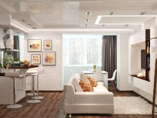Salon moderne par студия Design3F Moderne
