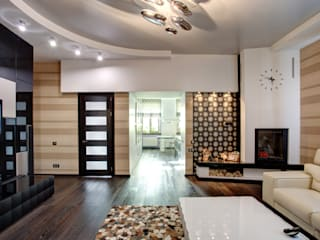 Дизайн интерьера квартиры в центре г. Казани Студия Искандарова Гостиная в стиле модерн