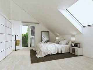 """""""mynido"""" Smart Homes: moderne Schlafzimmer von iHaus"""