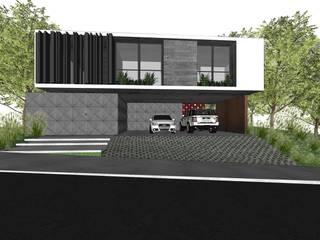 Modern garage/shed by ZAAV Arquitetura Modern