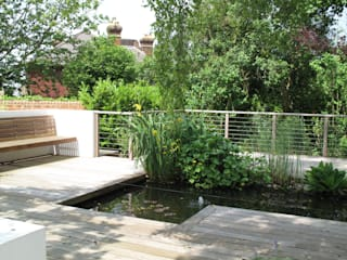 Traditional and Contemporary Mix Cherry Mills Garden Design Сад