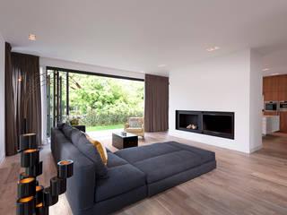 Villa Amsterdam Zuid:  Woonkamer door paul seuntjens architectuur en interieur