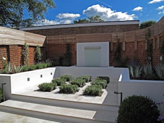 Contemporary Garden in Guildford Cherry Mills Garden Design สวน