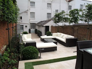 Contemporary Garden in Guildford Jardines modernos de Cherry Mills Garden Design Moderno