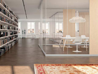 Edificios de oficinas de estilo moderno de Line Kit Moderno