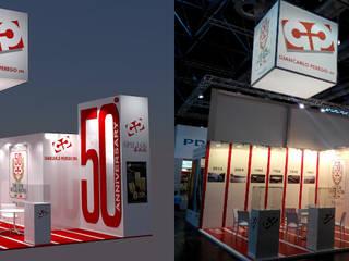 Stand Giancarlo Perego S.p.A. - Messe Glasstech - Dusseldorf 2014 Modernes Messe Design von Studio Arch. Matteo Calvi Modern