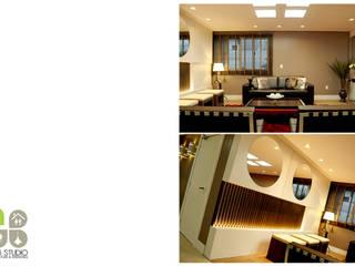 Hall de entrada - Edifício Torre de Prata : Corredores e halls de entrada  por Dani Rabello - Arquitetura e Interiores,