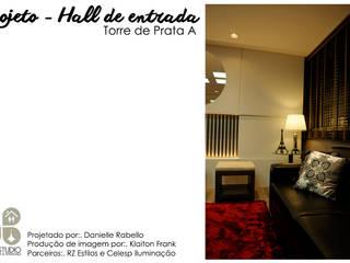 Hall de entrada - Edifício Torre de Prata Corredores, halls e escadas modernos por Dani Rabello - Arquitetura e Interiores Moderno
