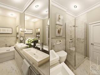 """Частный дом, коттеджный поселок """"Стольный"""": Ванные комнаты в . Автор – BEINDESIGN,"""