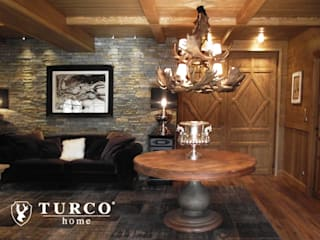 Rustic style living room by turco home srl Rustic
