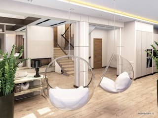 INTERIERIUM Minimalist corridor, hallway & stairs