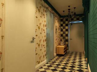 Apolonov Interiors Corredores, halls e escadas ecléticos