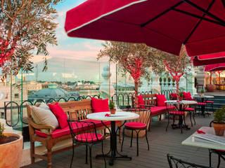 Terraza: Balcones y terrazas de estilo  de LUZIO