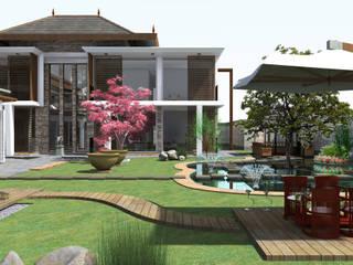 Shanghai Fengxian District villa, 上海奉贤区别墅设计:  in stile  di I-MINDteam©