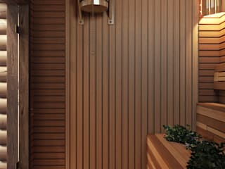 Spa de style de stile Rural par студия визуализации и дизайна интерьера '3dm2'