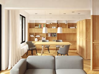 Apartment A02: modern Living room by dontDIY