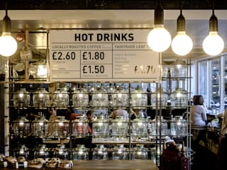 Barbican Foodhall Industrial style gastronomy by helen hughes design studio ltd Industrial