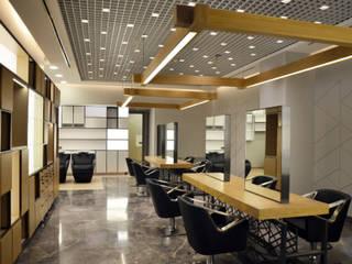 monoblok design & interiors – Haırdresser Project for Bomontı Hılton Fıgaro Consept :  tarz Dükkânlar