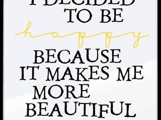 WHAT MAKES ME BEAUTIFUL: styl , w kategorii  zaprojektowany przez MSP Sp. z o.o.