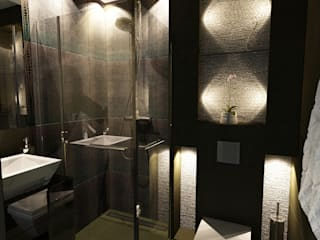Mała łazienka w bloku Nowoczesna łazienka od Axentim Nowoczesny