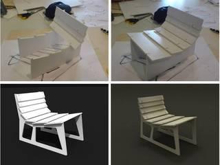 monoblok design & interiors – Nomad Plywood Armchaır:  tarz