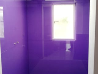 Glass Shower Splash Backs for Wet Room: modern  by UK Splashbacks, Modern
